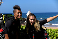 22-Feb-16 Wailea Point Scuba Gaia and Tori (Blaze)